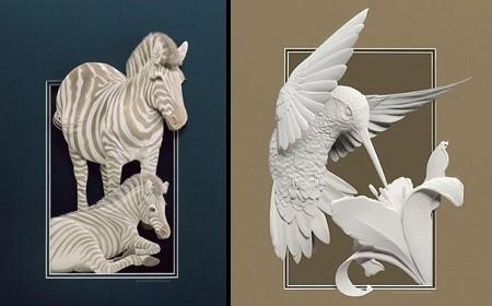 精美的动物纸雕
