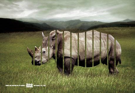 野生动物园的创意广告